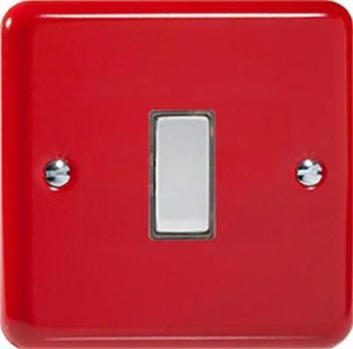 Primary coloured rocker light switch