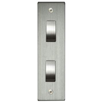 Two Gang Architrave Switch